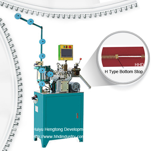 Auto metal zipper h type bottom stop machine.jpg