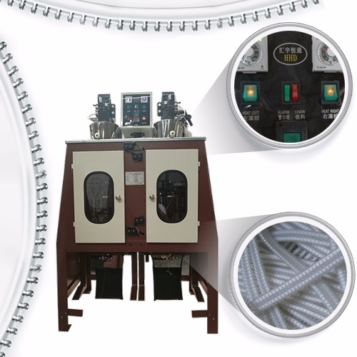 High Speed Nylon Zipper Teeth Coiling Machine