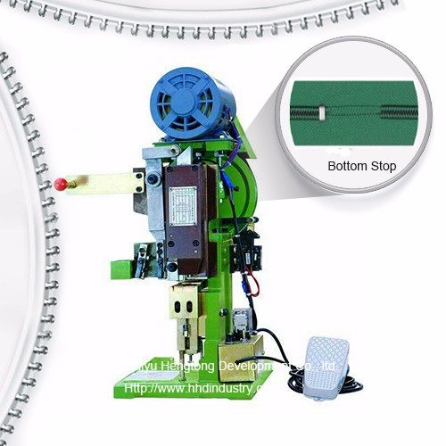 Semi Auto Nylon Zipper Bottom Stop Machine