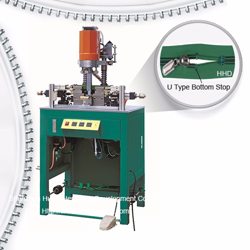 Yarı Avtomatik Nylon Zipper U tip Top Stop Machine