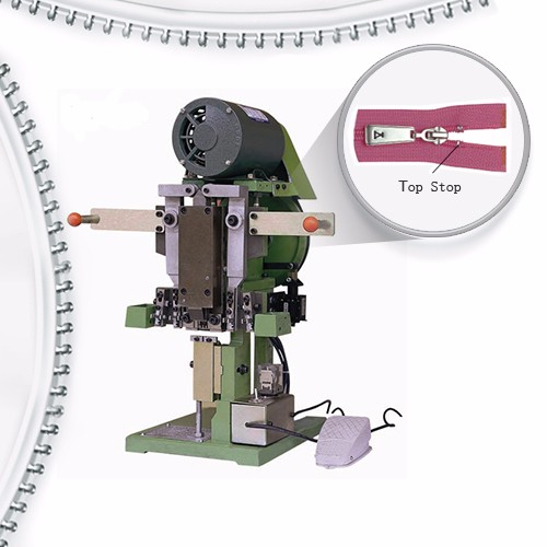 Semi Auto Nylon Zipper Top Stop Machine