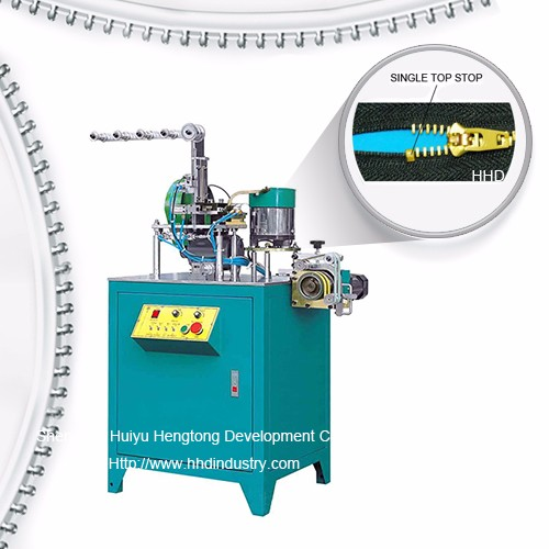Auto Metal Zipper U Type Single Top Stop Machine