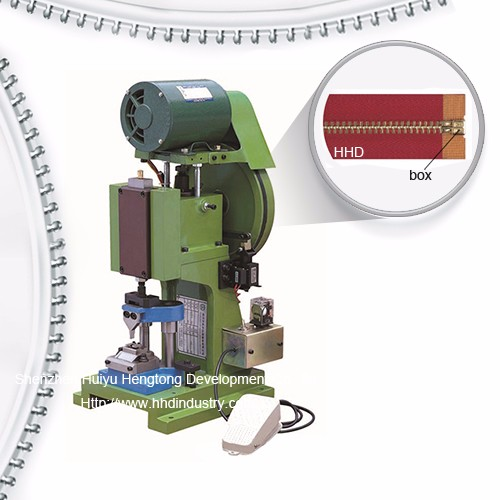 Semi Atuo Metal Zipper Box Fixing Machine Featured Image