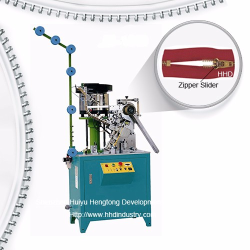 Auto Metel zipper Gwanwyn Slider Mounting Machine
