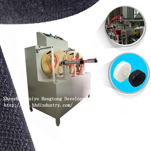 Velcro back adhesive machine